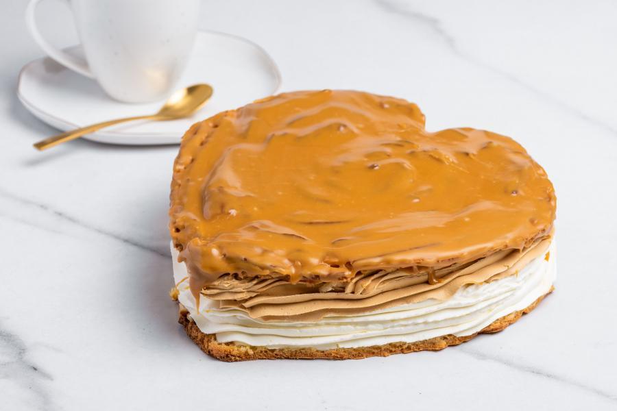 Veterníková torta v tvare srdca